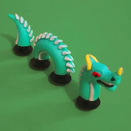 3pcs / 1 Green Dragon - 3D