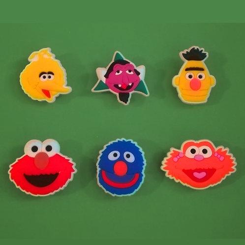 6pcs / Sesame Street - 2D