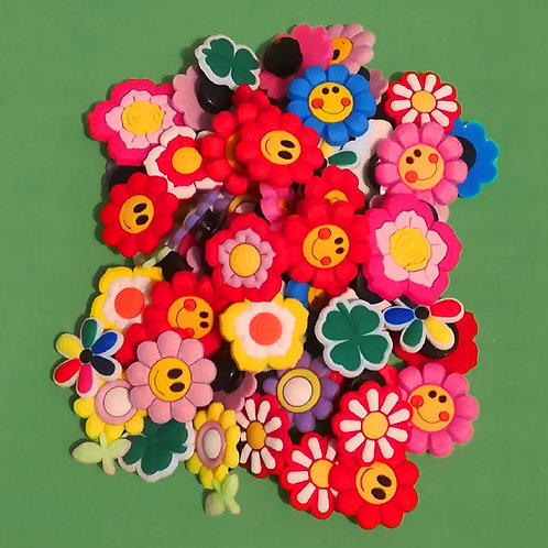 50pcs / Flowers - 2D