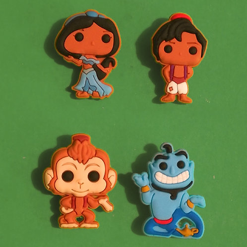 4pcs / Disney Aladdin - 2D