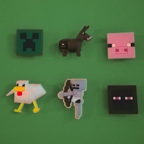 6pcs / Minecraft - 2D