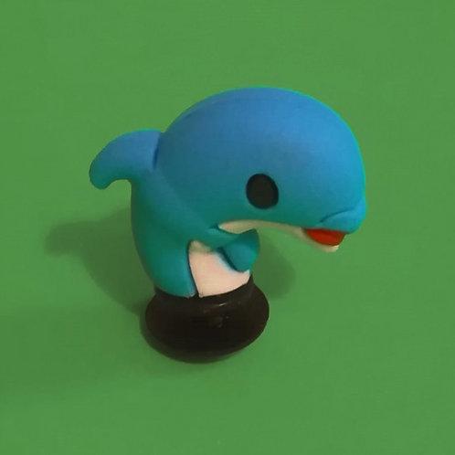 2pcs / Blue Dolphin - 3D