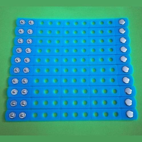 10pcs / Silicone Wristbands - Light Blue