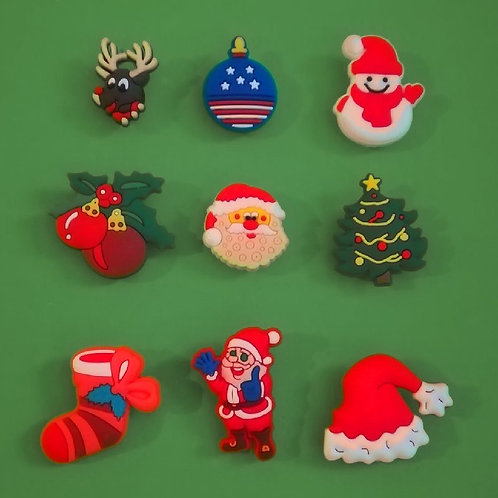 9pcs / Christmas Theme - 2D