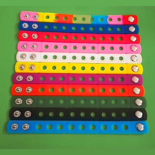 10pcs / Silicone Wristbands - Mixed