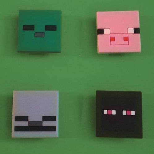4pcs / Minecraft - 2D