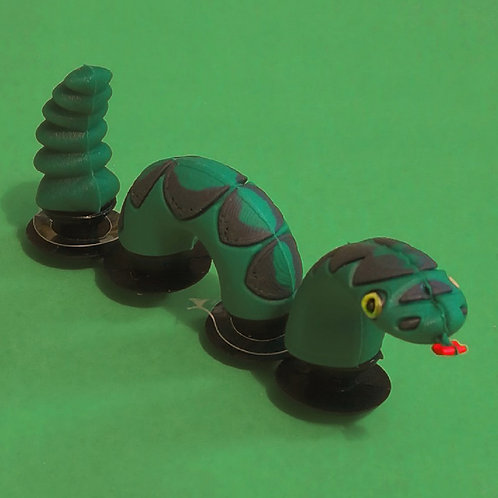 3pcs / 1 Green Snake - 3D