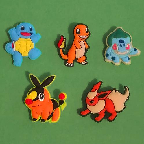 5pcs / Pokemon - 2D