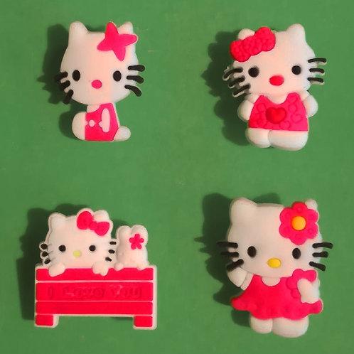 4pcs / Hello Kitty - 2D
