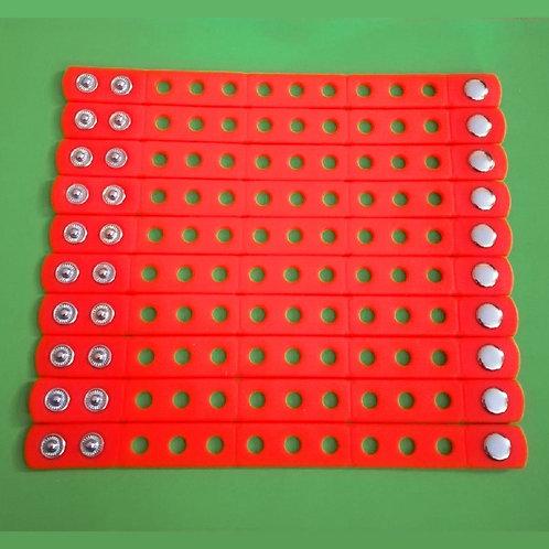 10pcs / Silicone Wristbands - Orange