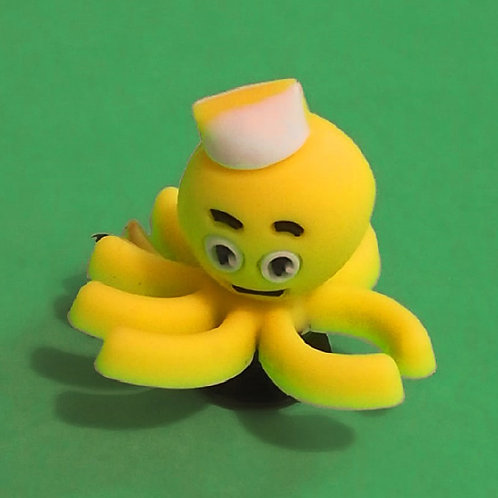 2pcs / Yellow Octopus - 3D