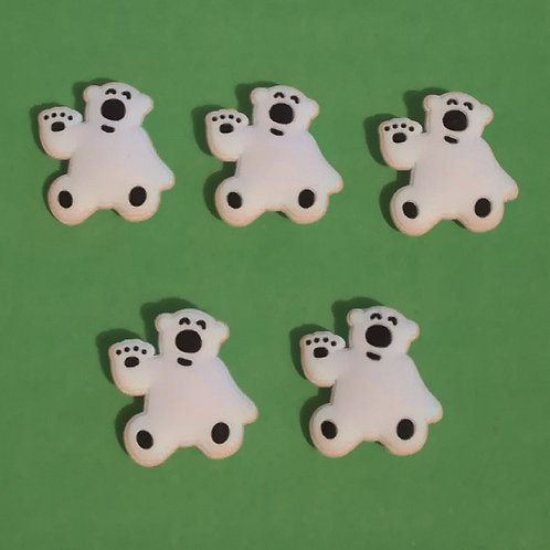 5pcs / Polar Bear - 2D