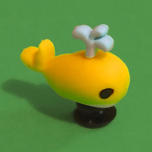 2pcs / Yellow Whale - 3D