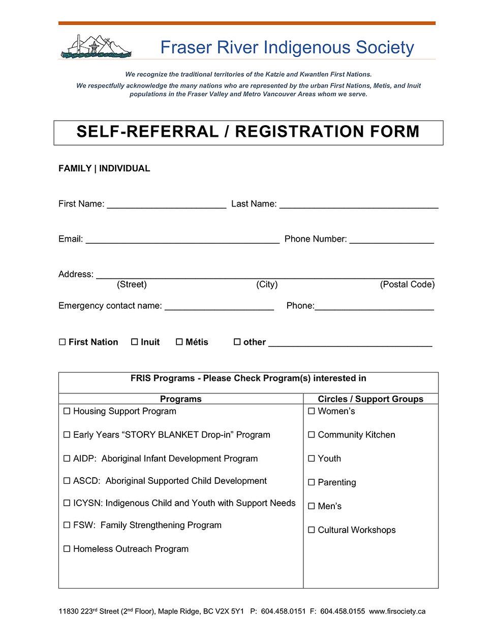 FRIS Self Refferal - Registration Form.j