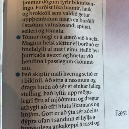 Vinsamlega grafið yður í sandinn