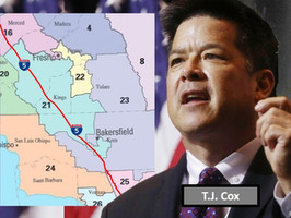 When will ex-U.S. Rep. T.J. Cox announce candidacy and for which Central Valley seat?