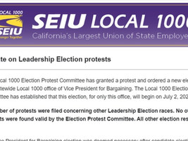 Update: SEIU Local 1000 rejects protests against in-coming President Richard Louis Brown