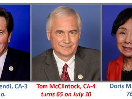 Sacramento's political age of the aged in Congress