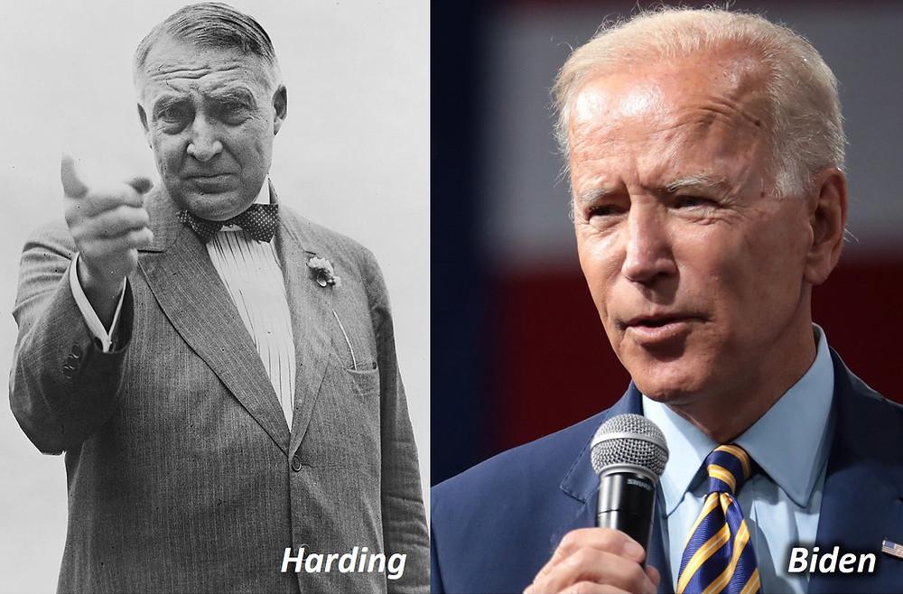 Warren Harding and Joe Biden