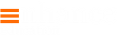 Enhance Education Logo (White and Orange
