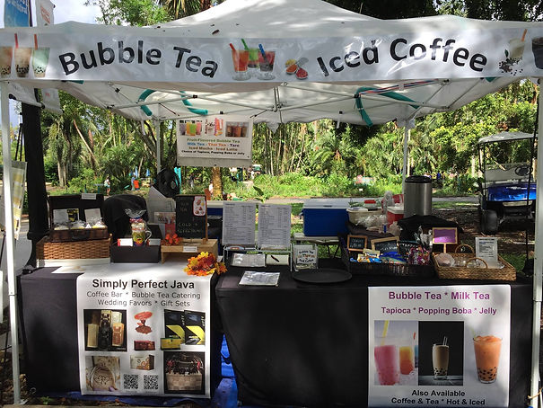 Simply Perfect Java, Pop up Coffee and Bubble Tea
