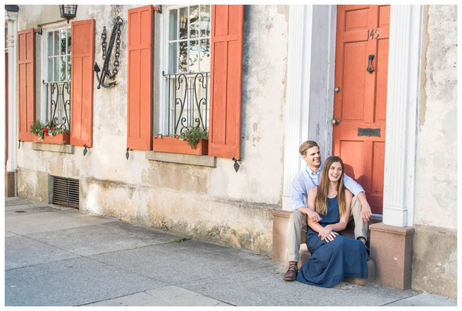 Logan and Josh | Downtown Charleston and Waterfront Park Engagement