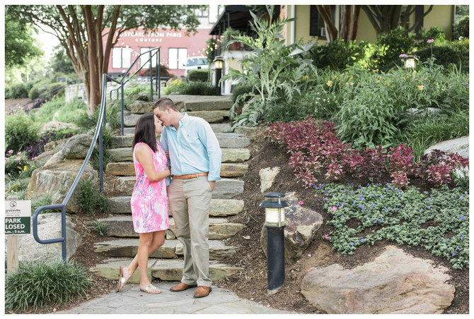 Julianne and Tripp | Falls Park and Downtown Greenville