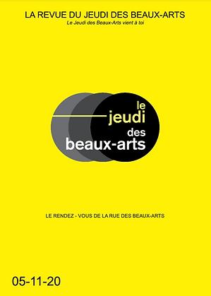 Revue du Jeudi des Beaux-Arts Novembre 2020