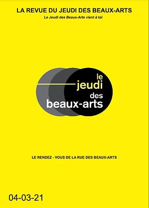 Revue du Jeudi des Beaux-Arts Mars 2021
