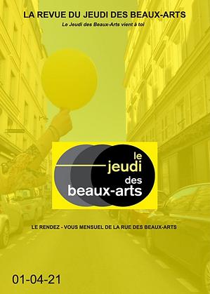 Revue du Jeudi des Beaux Arts À Visage découvert Avril 2021