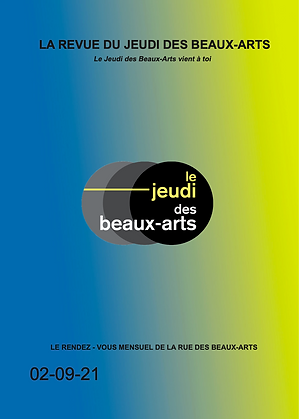 Revue du Jeudi des Beaux-Arts Septembre 2021