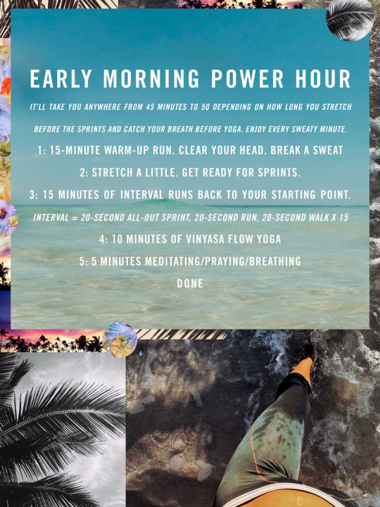 Example of a 45 min morning power hour