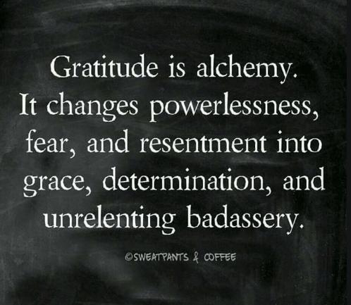 Gratitude changes negative to positive-Alchemy
