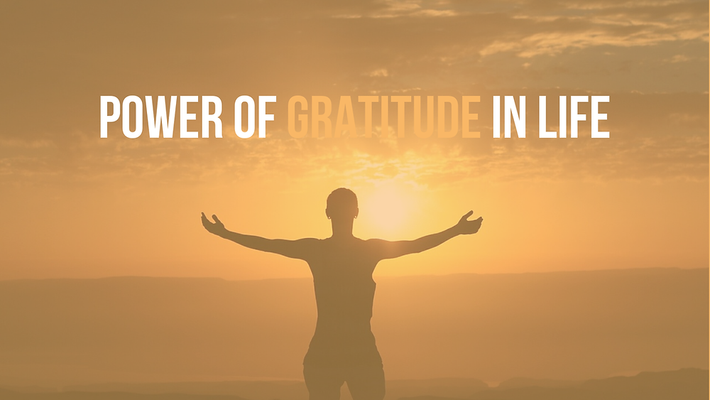 Behold the power of gratitude and praise