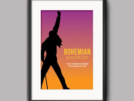 Thought Process: Re-Imagined Minimalistic Film Poster - 'Bohemian Rhapsody'