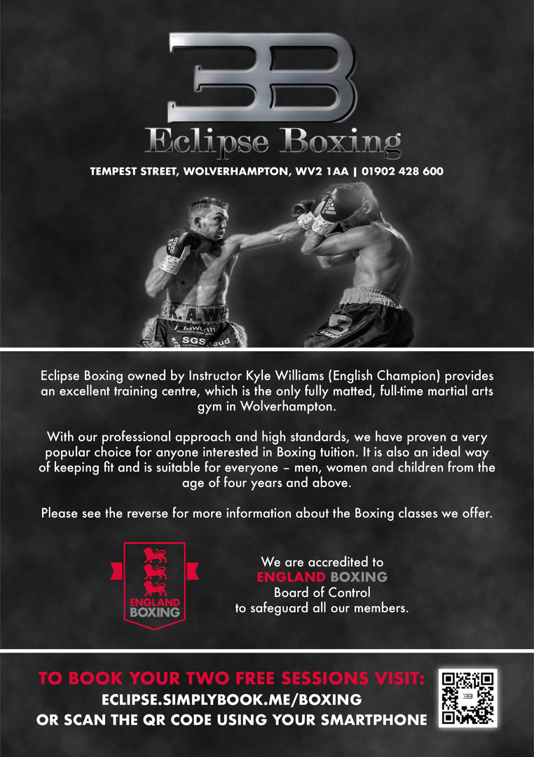 Eclipse Boxing Promotional Flyer Front.j