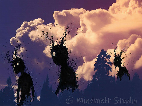 Silently, they roam beyond the trees...