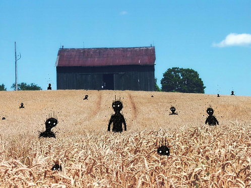 They suddenly appeared amongst the wheat...