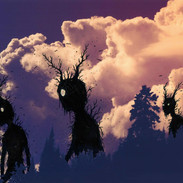 silently they roam beyond the trees