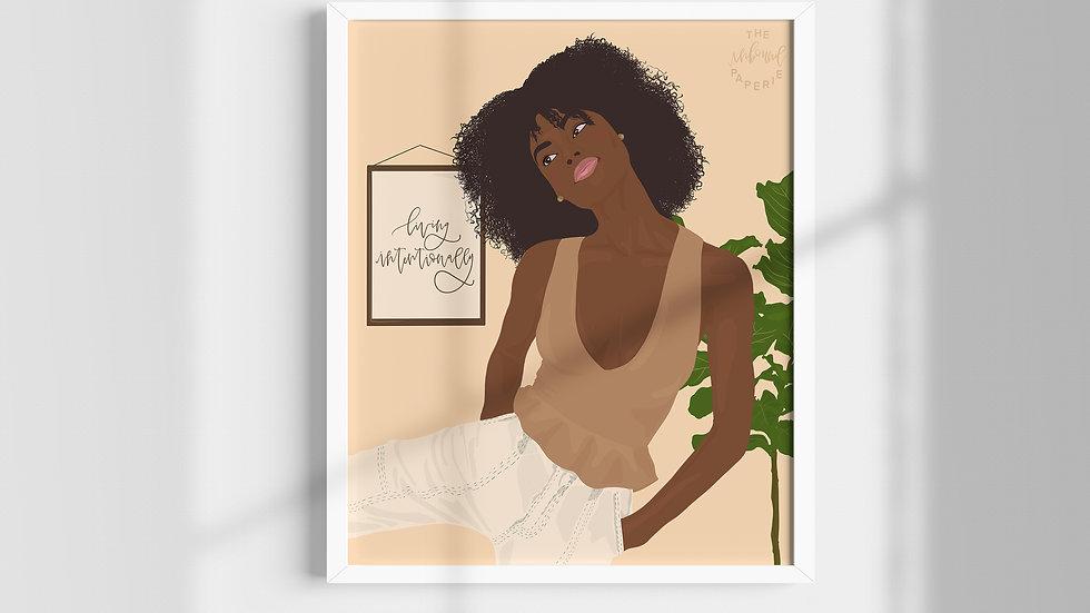 """Living Intentionally"" #2 Digital Print"