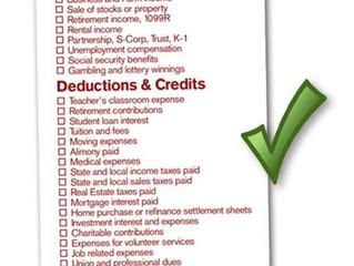 Tax Preparation To Do List/Checklist