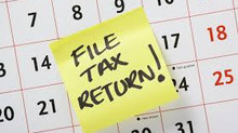 Tax Return Due April 17 2018