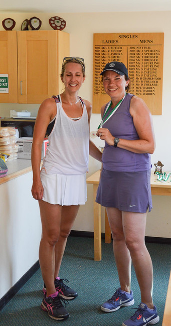 Ladies' Doubles runners up