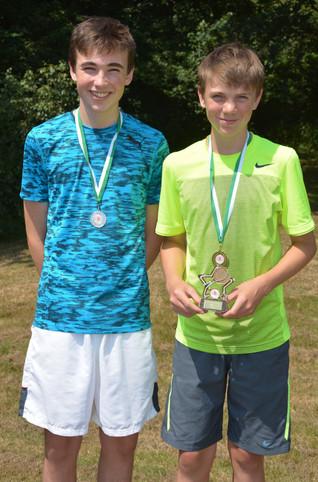 Boys' U16 Singles winner & runner up