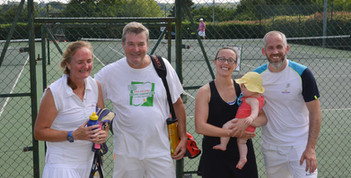Mixed Doubles winners & runners up (plus youngest fan)