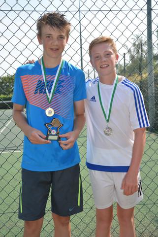 Boys' U14 Singles winner & runner up