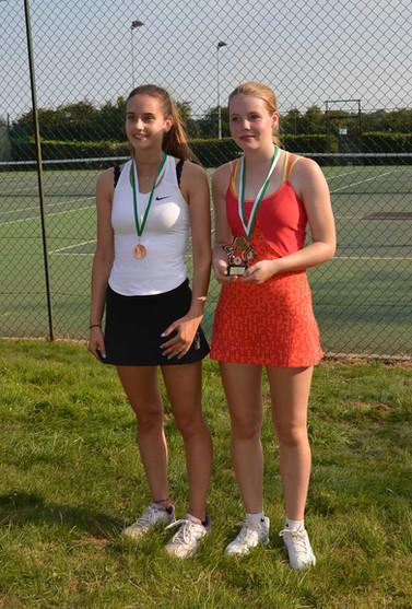 Girls U18 Singles winner & runner up