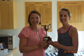 Ladies' doubles winners