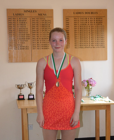 Girls' U18 Singles Winner