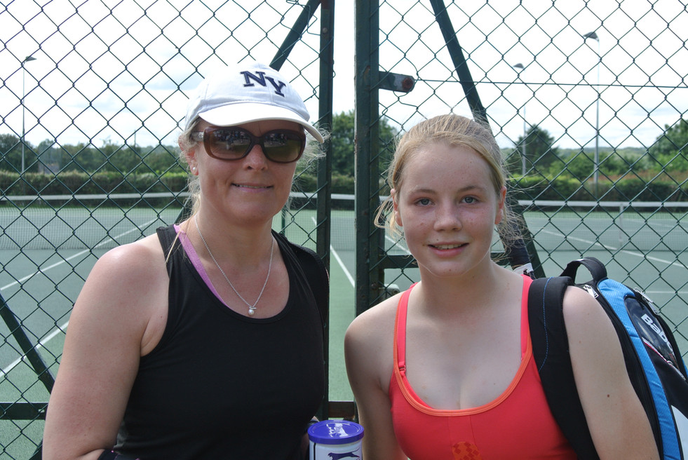 Ladies' Singles Winner and Runne